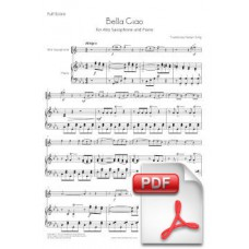 Bella Ciao for Alto Saxophone and Piano (Full Score and Parts) [PDF] Preview PDF (Free download)