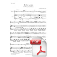 Bella Ciao for Bassoon and Piano (Full Score and Parts) [PDF]