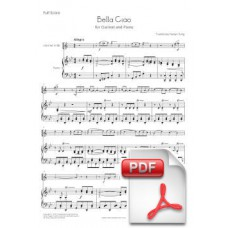 Bella Ciao for Clarinet and Piano (Full Score and Parts) [PDF]