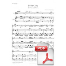 Bella Ciao for Flute and Piano (Full Score and Parts) [PDF] Preview PDF (Free download)