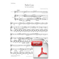 Bella Ciao for Horn and Piano (Full Score and Parts) [PDF]