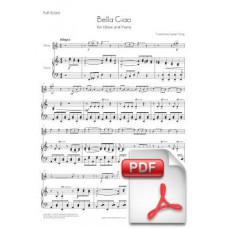 Bella Ciao for Oboe and Piano (Full Score and Parts) [PDF] Preview PDF (Free download)