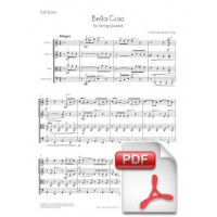 Bella Ciao for String Quartet (Full Score and Parts) [PDF]