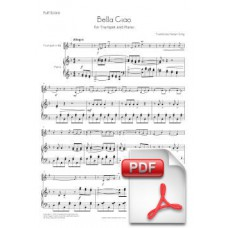 Bella Ciao for Trumpet and Piano (Full Score and Parts) [PDF]
