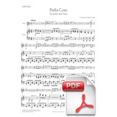Bella Ciao for Violin and Piano (Full Score and Parts) [PDF] Preview PDF (Free download)