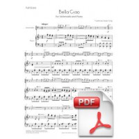 Bella Ciao for Violoncello and Piano (Full Score and Parts) [PDF]