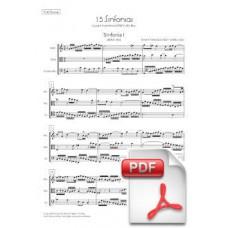 Bach: 15 Sinfonias (Invencions a 3 veus) arr. per a Trio de Corda (Partitura General i Parts) [PDF]
