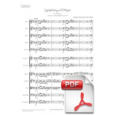 Clementi: Symphony in D Major op. 44/18 no. 2 for Orchestra (Full Score) [PDF] Preview PDF (Free download)