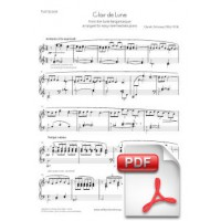 Debussy: Clair de lune for Intermediate or Easy Piano [PDF Sheet Music]