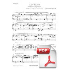 Debussy: Clair de lune for Easy Piano (Full Score) [PDF] Preview PDF (Free download)