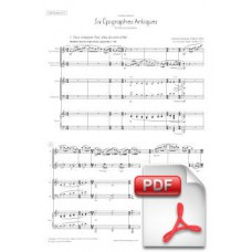 Debussy: Six Épigraphes Antiques for Flute, Clarinet, Violin, Cello and Piano (Full Score & Parts)