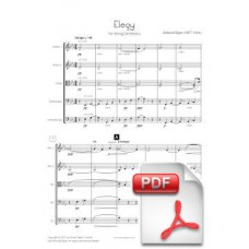 Elgar: Elegy op. 58 for String Orchestra (Full Score) [PDF]