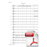 Fauré: Pavane, op. 50 for Chorus (optional) and Orchestra (Full Score) [PDF]