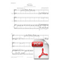 Fauré: Pavane for Flute, Clarinet, Violin, Cello and Piano (Full Score & Parts)