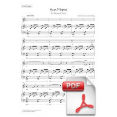 Gounod: Ave Maria for Voice and Piano (Full Score) [PDF]