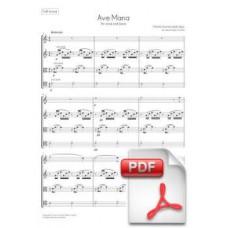 Gounod: Ave Maria per a Quartet de Corda (Partitura General i Parts) [PDF]