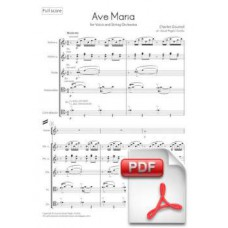 Gounod: Ave Maria arr. for Voice and String Orchestra (Full Score)