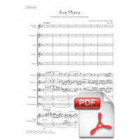 Lachner: Ave Maria for Chorus and String Orchestra (Full Score)