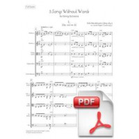 Mendelssohn: 5 Songs Without Words arr. for String Orchestra (Full Score)