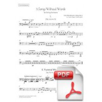 Mendelssohn: 5 Songs Without Words arr. for String Orchestra (Instrumental Parts)