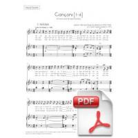 Mestres: Cançons [1-6] per a Veu i Orquestra de Corda (Partitura Vocal) [PDF]