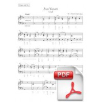 Mozart: Ave Verum, K. 618 per a Cor, Orgue i Orquestra de Corda (Parts) [PDF]
