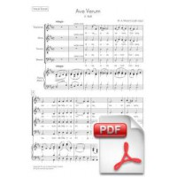 Mozart: Ave Verum, K. 618 for Chorus and String Orchestra (Vocal Score) [PDF]