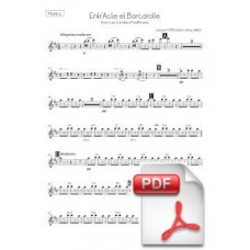 Offenbach: EntrActe et Barcarolle from Les Comtes dHoffmann for Chorus and Orchestra (Parts) [PDF] Preview PDF (Free download)