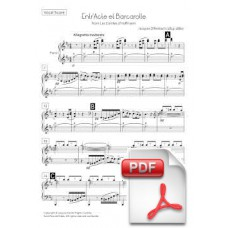 Offenbach: Entr'Acte et Barcarolle from Les Comtes d'Hoffmann for Chorus and Orchestra (Vocal Score) [PDF]