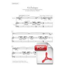 Pagès-Corella: To Biology for Baritone and Mixed Septet (Vocal Score)
