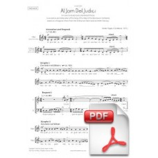 Pagès-Corella: On Judjement Day for Mixed Chorus (Full Score)