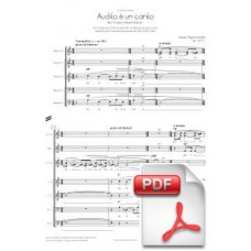 Pagès-Corella: Audito è un canto for Mixed Chorus (Full Score) [PDF]