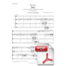 Pagès-Corella: Byoubu for String Quartet (Full Score) [PDF] Preview PDF (Free download)