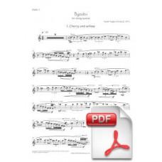 Pagès-Corella: Byoubu for String Quartet (Instrumental Parts) [PDF] Preview PDF (Free download)