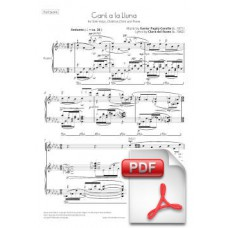 Pagès-Corella: Song to the Moon for Solo Voice, Children Choir and Piano (Full Score) [PDF]