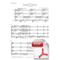 Pagès-Corella: Diabolic Scherzo for String Quartet (Full Score and Parts) [PDF]
