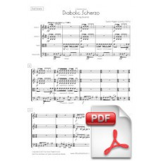 Pagès-Corella: Diabolic Scherzo for String Quartet (Full Score and Parts) [PDF] Preview PDF (Free download)