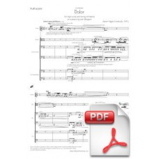 Pagès-Corella: Sorrow for Voice and string orchestra (Full Score) [PDF] Preview PDF (Free download)