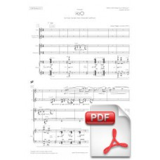 Pagès-Corella: H2O for Flute, Clarinet, Violin, Cello and Piano (Full Score and Parts) [PDF]