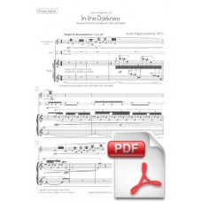 Pagès-Corella: In the Darkness for Alto Saxophone, Cajón and Piano (Piano Score & Parts) [PDF] Preview PDF (Free download)