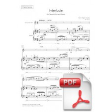 Pagès-Corella: Interlude for Saxophone and Piano (Piano Score and Solo Part)