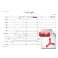 Pagès-Corella: The Captive Bird for Flabiol and Cobla (Full Score)