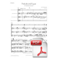 Pagès-Corella: Prelude and Fugue for Saxophone Quartet (Full Score and Parts) [PDF]