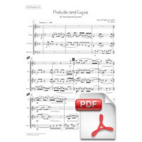 Pagès-Corella: Prelude and Fugue for Woodwind Quartet (Full Score & Parts)