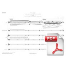 Pagès-Corella: Tangram for Flute, Bass Clarinet, Violin, Violoncello & Piano (Full Score) [PDF] Preview PDF (Free download)