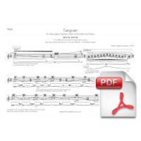 Pagès-Corella: Tangram for Flute, Bass Clarinet, Violin, Violoncello & Piano (Instrumental Parts) [PDF]