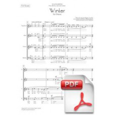 Pagès-Corella: Winter for Chorus (Full Score) [PDF]