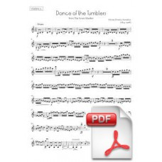 Rimsky-Korsakov: Dance of the Tumblers from the Snow Maiden for Orchestra (Parts) [PDF] Preview PDF (Free download)