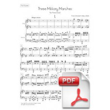 Schubert: Three Military Marches op. 51 / D. 733 for Piano Duet (Full Score) [PDF]