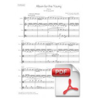 Schumann: Album for the Young - Part 1 (n. 1-18) arr. for String Quartet (Full Score and Parts) [PDF]